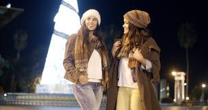 Causerie de deux belle femmes Photo libre de droits
