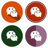 Causerie plate d'icônes Photos libres de droits