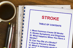 Causes af stroke Royalty Free Stock Photo