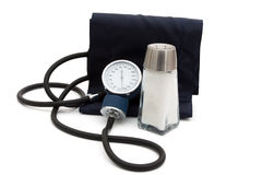 Causes of high blood pressure Stock Image