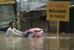 CAUSES OF INDONESIA SEASONAL FLOODING Stock Images