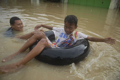 CAUSES OF INDONESIA SEASONAL FLOODING Royalty Free Stock Images