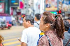Causeway Bay crosswalk Stock Images