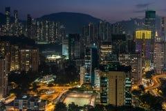 Causeway Bay at night Royalty Free Stock Images