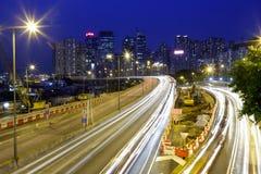 Causeway bay night Stock Photos