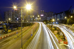 Causeway bay night view Stock Image