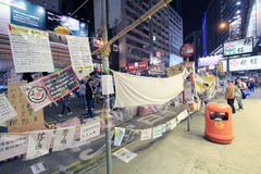 Causeway Bay night view of umbrella movement in Hong Kong Stock Photography