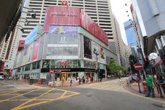 Causeway Bay street view in Hong Kong Stock Photo