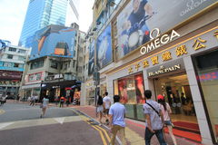 Causeway Bay street view in Hong Kong Royalty Free Stock Image
