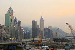 Causeway bay sunset Royalty Free Stock Image