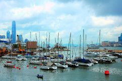 Causeway bay typhoon shelter, hong kong Royalty Free Stock Images