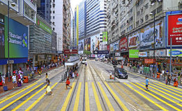 Causeway bay urban view, hong kong Royalty Free Stock Images