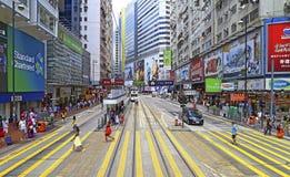 Causeway bay urban view, hong kong Royalty Free Stock Images