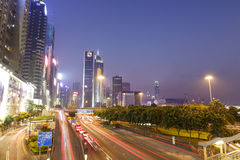 Causeway bay view to Central Royalty Free Stock Image