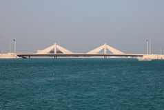 Causeway Bridge in Bahrain Royalty Free Stock Image