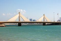 Causeway Bridge in Manama, Bahrain Royalty Free Stock Photography