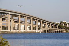 Causeway in Cocoa, Florida Stock Photo