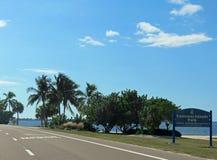 Causeway Islands Park in Florida. The Sanibel Causeway at the Causeway Islands Park in Southwest Florida stock photo