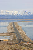 Causeway over Salt Lake Stock Image