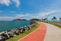 The Causeway in Panama City. Stock Photos