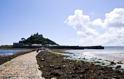 The Causeway at St Michaels Mount Royalty Free Stock Photography
