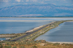 Causeway to Antelope Island Royalty Free Stock Photos