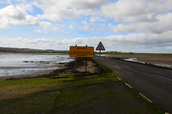 Causeway to Holy Island Royalty Free Stock Photography