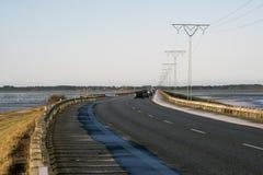 Causeway to the island of Romo Stock Photos