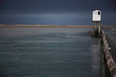 Causeway to Lindisfarne Royalty Free Stock Images