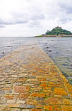 Causeway to a Tidal Island Stock Image