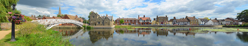 The Causeway, Town Offices and Chinese Bridge at Godmanchester, Royalty Free Stock Image