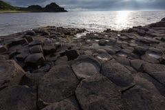 causewayjättar nordliga ireland Arkivbilder