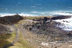 causewayjättar nordliga ireland Arkivfoto