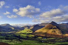 Causey Pike, Robinson, and Newlands Valley Royalty Free Stock Image