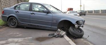 Causou um crash o carro fotos de stock