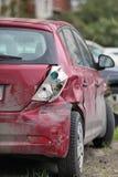 Causou um crash o carro imagens de stock