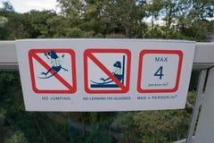 Cautela della passeggiata del cielo Immagini Stock