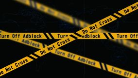 Cautela di Adblock   Faccia non trasversale immagini stock libere da diritti