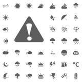 Cautela, icona d'avvertimento Icone di vettore del tempo messe Immagini Stock Libere da Diritti