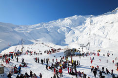 Cauterets ski resort in plain season. Royalty Free Stock Photos