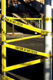 Caution. Warning tape Do not enter on the street royalty free stock images