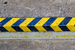 Caution. Stair marking in black an yellow Stock Photography