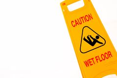 Caution!. Cleaning in progress. Caution, wet floor Royalty Free Stock Images
