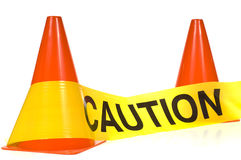 Caution! royalty free stock images