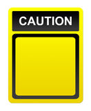 Caution advertisement Stock Image