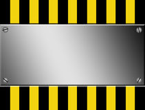 Caution advertisment Royalty Free Stock Photo