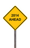 Caution - 2014 Ahead Royalty Free Stock Images
