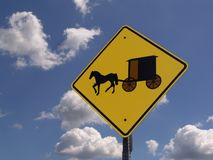 Caution Amish Stock Photo