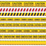 Caution And Danger Ribbon Royalty Free Stock Photo