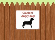 Caution - angry dog Stock Photos